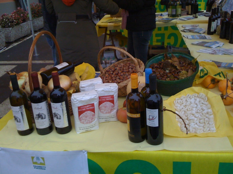 Fall market in Bobbio