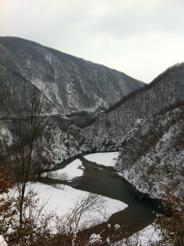 The Trebbia river in wintertime