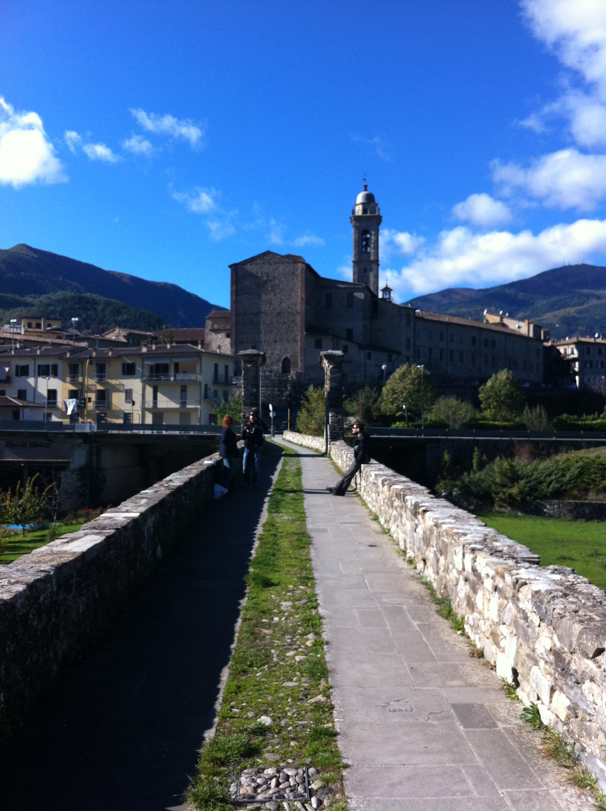 Roman stone bridge in Bobbio